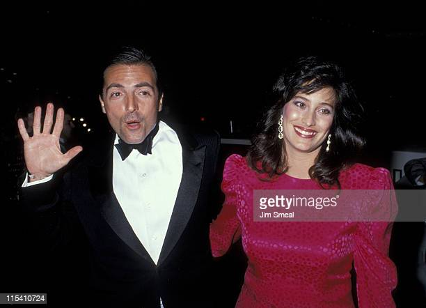 Armand Assante and wife Karen Assante during The 46th Annual Golden Globe Awards Arrivals at The Beverly Hilton Hotel in Beverly Hills California...
