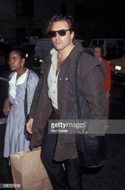 Armand Assante during Armand Assante Walking on Madison Ave May 13 1993 at Madison Avenue in New York City New York United States
