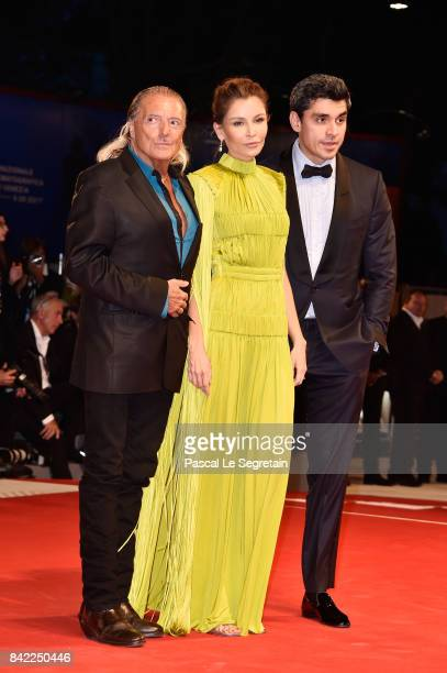 Armand Assante Lola KarimovaTillyaeva and and Timur Tillyaev walk the red carpet ahead of the 'The Leisure Seeker ' screening during the 74th Venice...