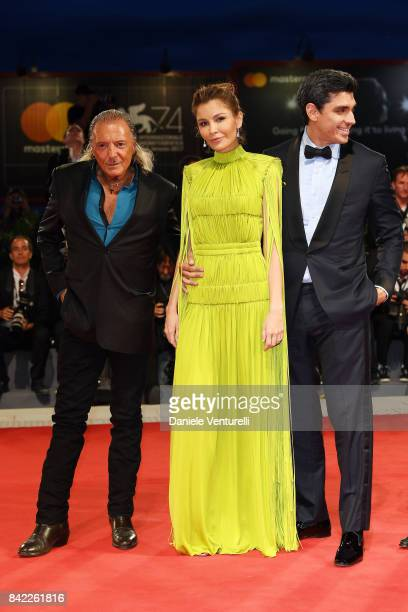 Armand Assante Lola KarimovaTillyaeva and Timur Tillyaev from Kineo delegation walk the red carpet ahead of the 'The Leisure Seeker ' screening...