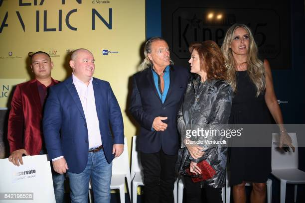 Armand Assante Susan Sarandon and Tiziana Rocca attend the Kineo Diamanti Awards press conference during the 74th Venice Film Festival at on...