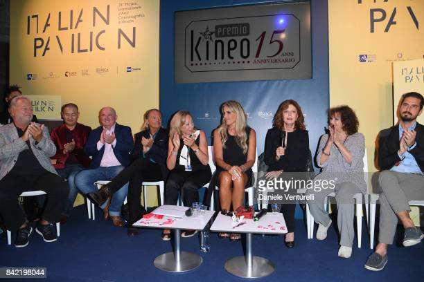 Armand Assante Tiziana Rocca Susan Sarandon Claudia Cardinale and guests attend the Kineo Diamanti Awards press conference during the 74th Venice...