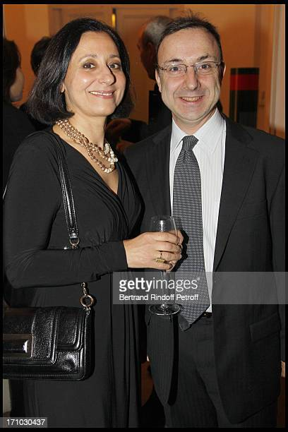 Armand Bern and wife Jocelyne at Stephane Bern Is Honoured At His Paris Home With The Title Of Officier De L'Ordre Des Arts Et Lettres By The Culture...