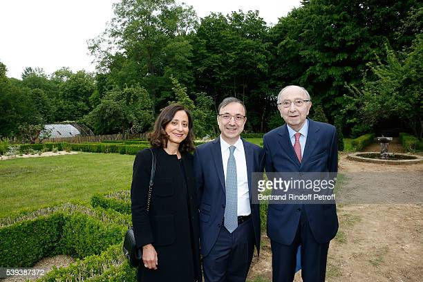 Armand Bern his wife and Louis Bern attend the 'College Royal et Militaire de ThironGardais' Exhibition Rooms Inauguration on June 10 2016 in Thiron...