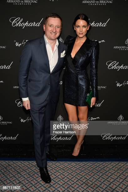 Armand de Brignac CEO Sebastien Besson and Global Brand director Mim Gardiner attend Creatures Of The Night LateNight Soiree Hosted By Chopard And...