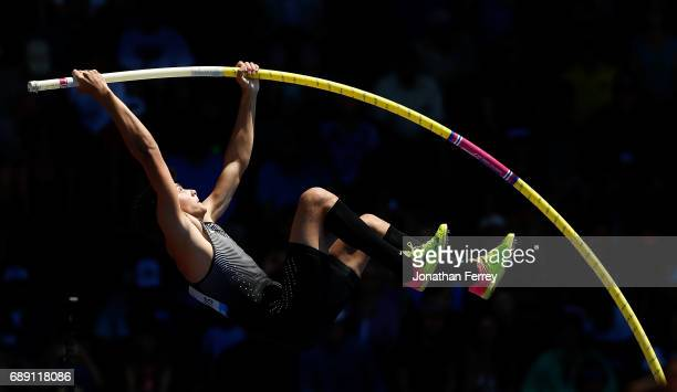 Armand Duplantis of Sweden competes in the pole vaultduring the 2017 Prefontaine Classic Diamond League at Hayward Field on May 27 2017 in Eugene...