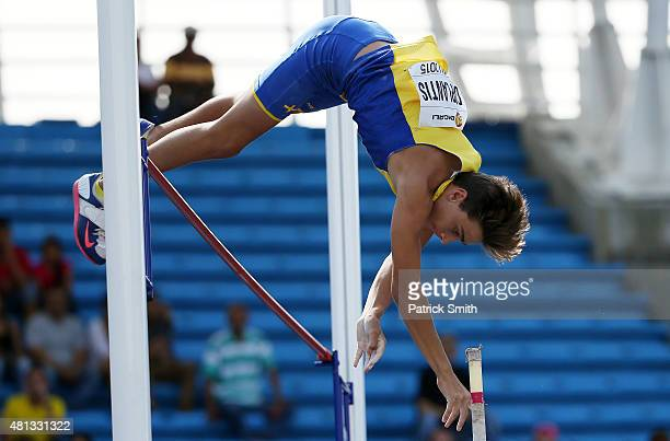 Armand Duplantis of Sweden in action during the Boys Pole Vault Final on day five of the IAAF World Youth Championships Cali 2015 on July 19 2015 at...
