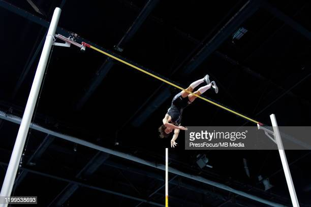 Armand Duplantis of Sweden sets new indoor pole vault world record of 617m during Copernicus Cup on February 8 2020 in Torun Poland