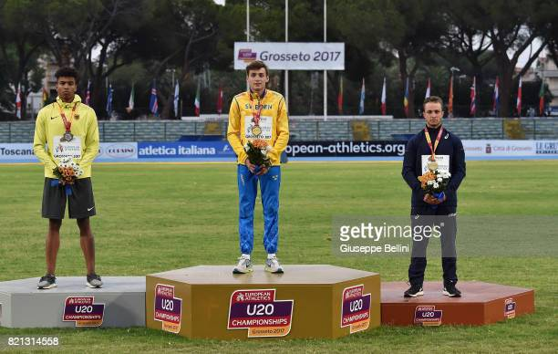 Armand Duplantis of Sweden wins the race of Pole Vault Men during European Athletics U20 Championships on July 23 2017 in Grosseto Italy