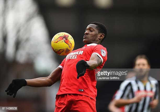 Armand Gnanduillet of Leyton Orient in action during the Sky Bet League Two match between Notts County and Leyton Orient at Meadow Lane on February...