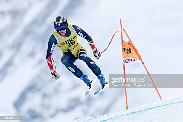 Armand Marchant of Belgium in action during the Audi FIS Alpine Ski World Cup Men's Alpine Combined on January 17 2020 in Wengen Switzerland