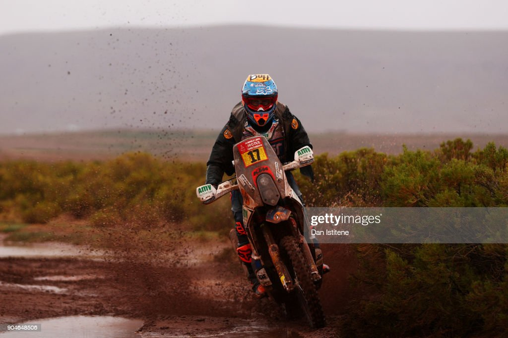 Armand Monleon of Spain and Daming Racing Team rides a 450 RR KTM bike in the Elite ASO during stage seven of the 2018 Dakar Rally between La Paz and Uyuni on January 13, 2018 in UNSPECIFIED, Bolivia.