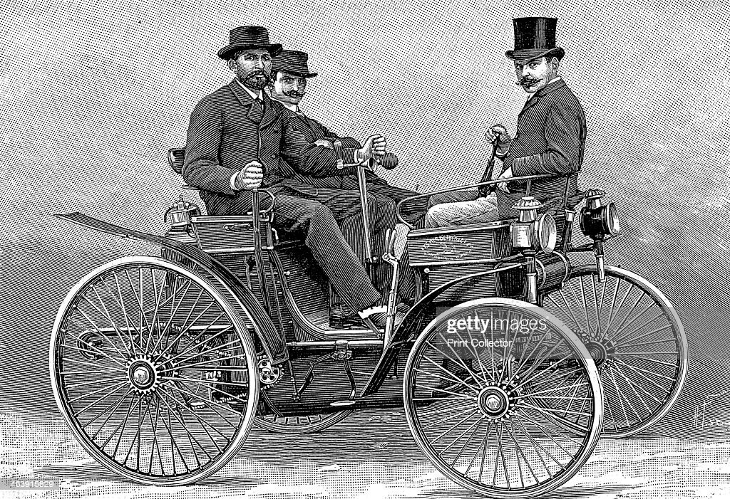 Armand Peugot\'s first motor car, 1890. Pictures | Getty Images