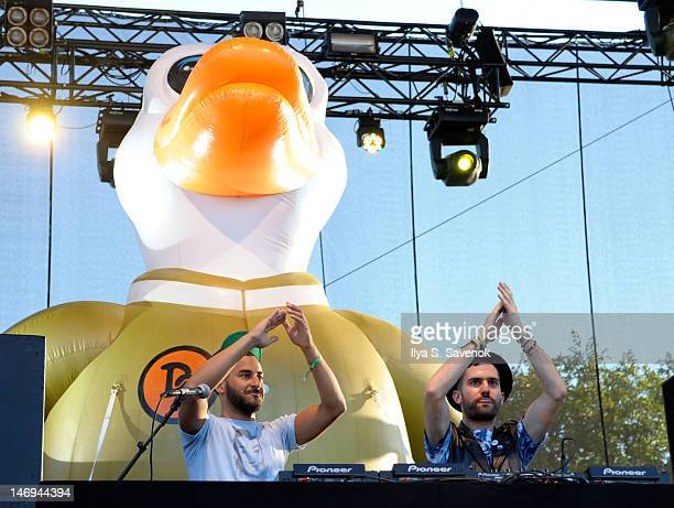 Armand Van Helden and ATrak perform during the 2012 Governors Ball Music Festival at Randall's Island on June 23 2012 in New York City