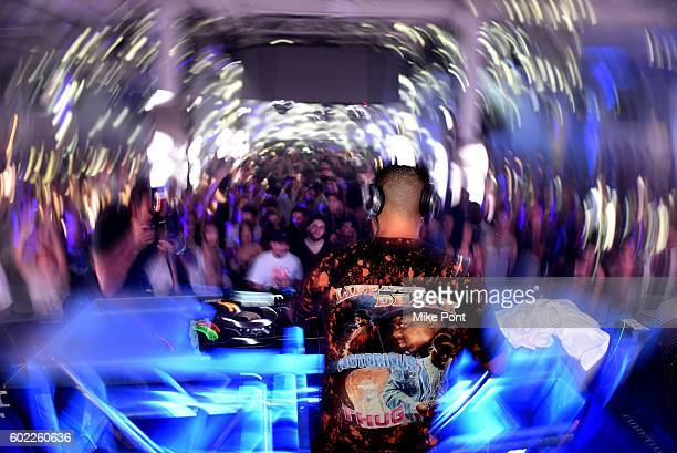 Armand Van Helden spins on stage during I Feel Love in celebration with Absolut on September 10 2016 in New York City