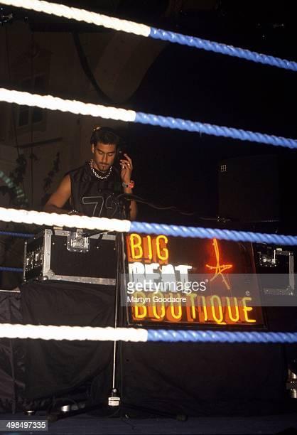 Armand Van Heldon appears at the Heavy Weight DJ Battle Brixton Academy London United Kingdom 1999
