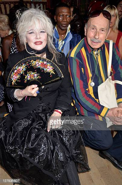 Armande Altai and illustrator Serge Tamagnot attends the Christophe Guillarme Front Row Paris Fashion Week Spring / Summer 2012 at Balajo on...