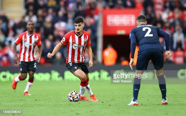 Armando Broja of Southampton during the Premier League match between Southampton and Burnley at St Mary's Stadium on October 23, 2021 in Southampton,...