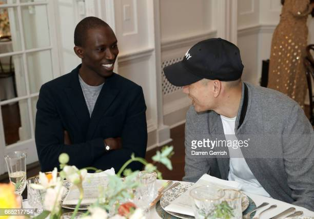Armando Cabral and Eugene Tong attends the Matchesfashioncom 30th Anniversary Dinner on April 5 2017 in New York City