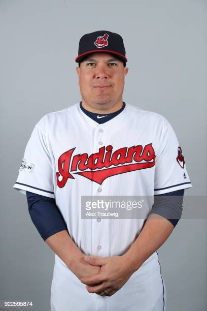 Armando Camacaro of the Cleveland Indians poses during Photo Day on Wednesday February 21 2018 at Goodyear Ballpark in Goodyear Arizona