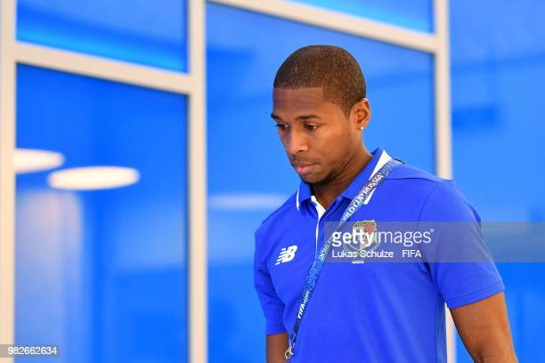 Armando Cooper of Panama arrives at the stadium prior to the 2018 FIFA World Cup Russia group G match between England and Panama at Nizhny Novgorod...