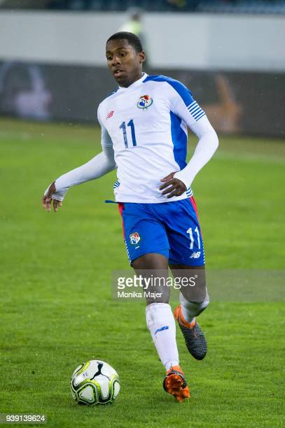 Armando Cooper of Panama in action during the International Friendly between Switzerland and Panama at the Swissporarena on March 27 2018 in Lucern...
