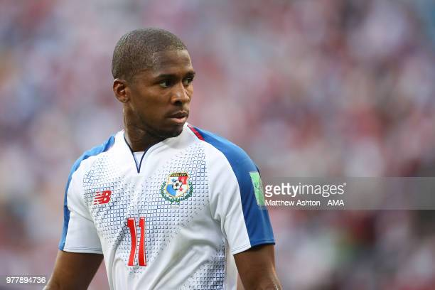 Armando Cooper of Panama looks on during the 2018 FIFA World Cup Russia group G match between Belgium and Panama at Fisht Stadium on June 18 2018 in...