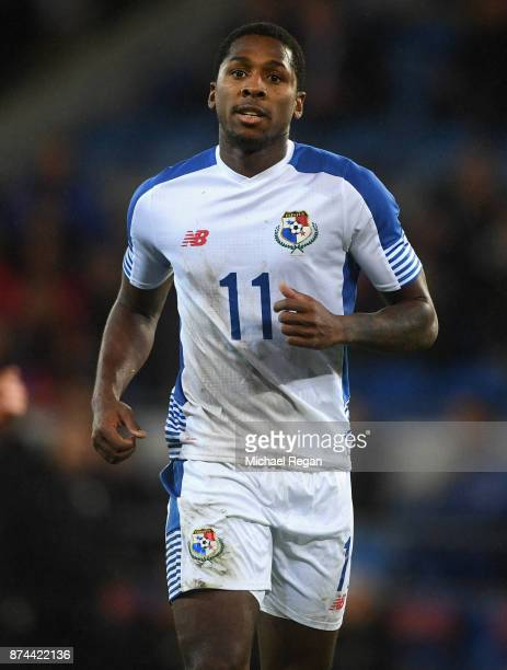 Armando Cooper of Panama looks on during the International match between Wales and Panama at Cardiff City Stadium on November 14 2017 in Cardiff Wales