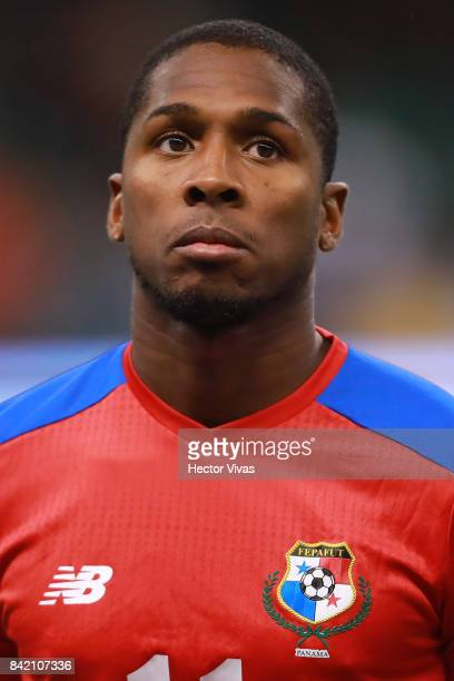 Armando Cooper of Panama looks on prior the match between Mexico and Panama as part of the FIFA 2018 World Cup Qualifiers at Estadio Azteca on...