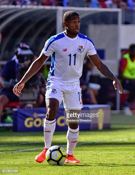 Armando Cooper of Panama plays against USA during a CONCACAF Gold Cup Soccer match at Nissan Stadium on July 8 2017 in Nashville Tennessee
