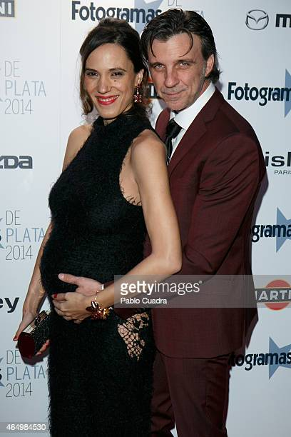 Armando del Rio and Laia Alemany attend 'Fotogramas Awards 2014' at Joy Eslava theater on March 2 2015 in Madrid Spain