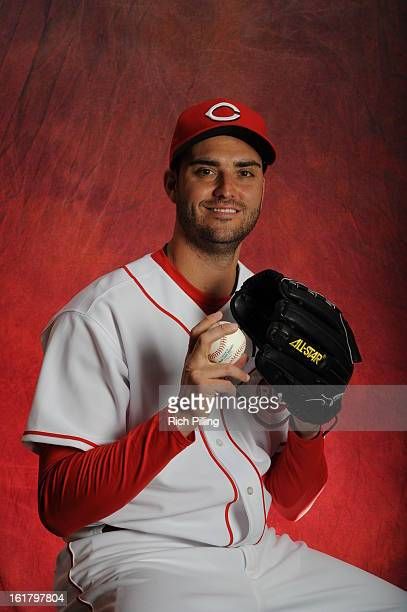 Armando Galarraga of the Cincinnati Reds poses during MLB photo day on February 16 2013 at the Goodyear Ballpark in Goodyear Arizona