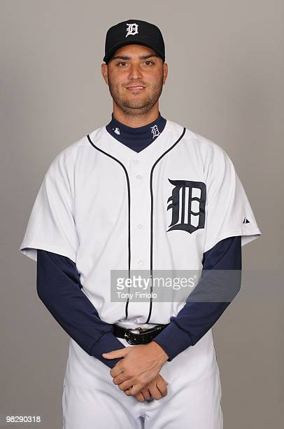 Armando Galarraga of the Detroit Tigers poses during Photo Day on Saturday February 27 2010 at Joker Marchant Stadium in Lakeland Florida