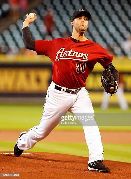 Armando Galarraga of the Houston Astros pitches against the Arizona Diamondbacks at Minute Maid Park on August 19 2012 in Houston Texas