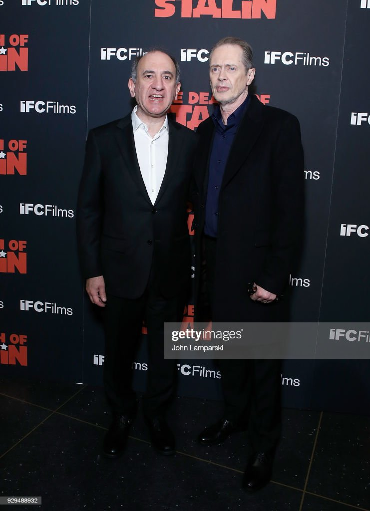 Armando Iannucci and Steve Buscemi attend 'The Death Of Stalin' New York premiere at AMC Lincoln Square Theater on March 8, 2018 in New York City.