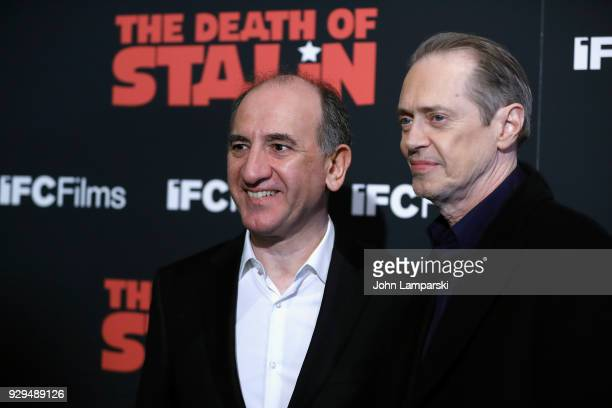 Armando Iannucci and Steve Buscemi attend 'The Death Of Stalin' New York premiere at AMC Lincoln Square Theater on March 8 2018 in New York City