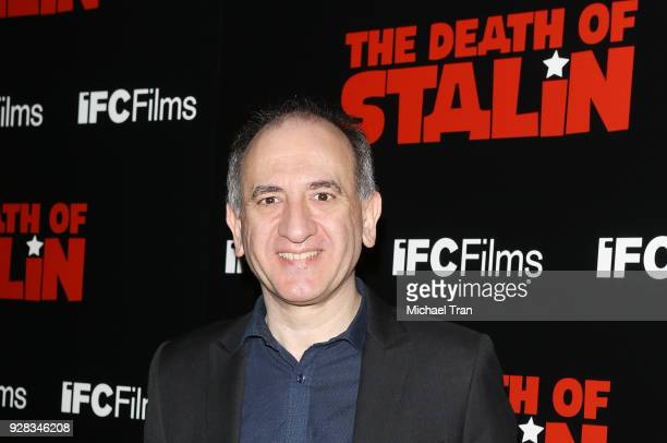 Armando Iannucci arrives to the Los Angeles premiere of IFC Films' 'The Death Of Stalin' held at The Theatre at Ace Hotel on March 6 2018 in Los...
