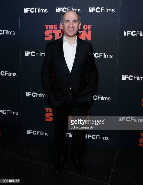 Armando Iannucci attends 'The Death Of Stalin' New York premiere at AMC Lincoln Square Theater on March 8 2018 in New York City