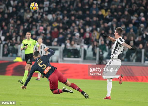 Armando Izzo during Serie A match between Juventus v Genoa in Turin on January 22 2017