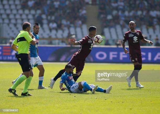 Armando Izzo during Serie A match between Torino v Napoli in Turin on September 23 2018