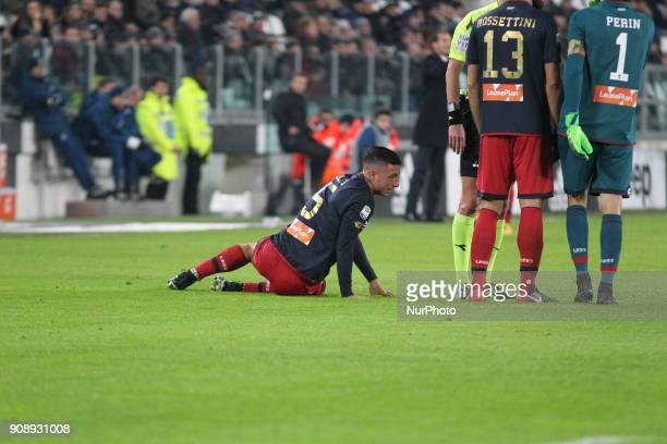 Armando Izzo during the Serie A football match between Juventus FC and Genoa CFC at Allianz Stadium on 22 January 2018 in Turin Italy