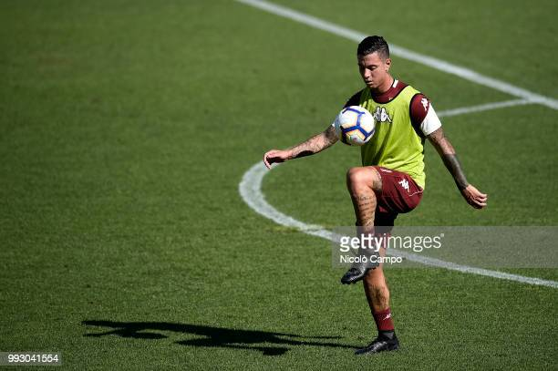 Armando Izzo in action during Torino FC first training of the season 20182019