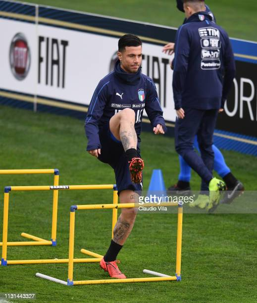 Armando Izzo of Italy in action during a training session at Centro Tecnico Federale di Coverciano on March 18 2019 in Florence Italy