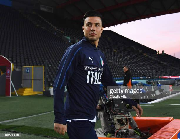Armando Izzo of Italy looks on during a training session at Stadio FriuliDacia Arena on March 22 2019 in Udine Italy