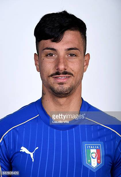 Armando Izzo of Italy poses during the official portrait session at Coverciano on May 19 2016 in Florence Italy