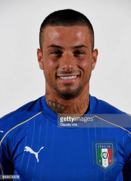 Armando Izzo of Italy poses during the official portrait session at Coverciano on February 21 2017 in Florence Italy