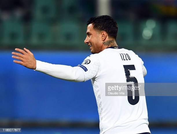 Armando Izzo of Italy reacts during the UEFA Euro 2020 Qualifier between Italy and Armenia on November 18 2019 in Palermo Italy