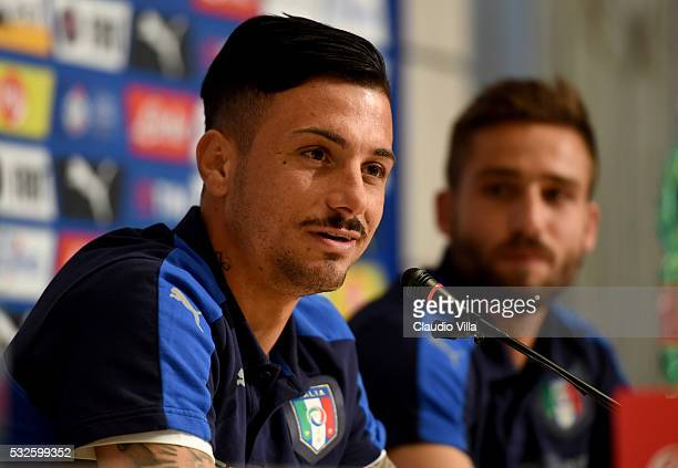 Armando Izzo of Italy speaks to the media during a press conference at the club's training ground at Coverciano on May 19 2016 in Florence Italy