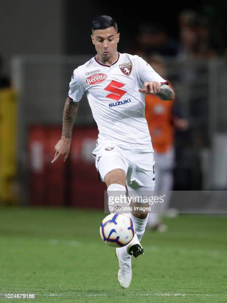Armando Izzo of Torino during the Italian Serie A match between Internazionale v Torino at the San Siro on August 26 2018 in Milan Italy