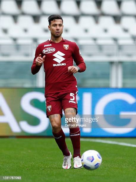 Armando Izzo of Torino FC controls the ball during the Serie A match between Torino FC and US Sassuolo at Stadio Olimpico di Torino on March 17, 2021...